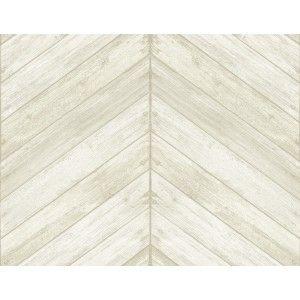 קיר לוחות עץ בצורת V - קרם