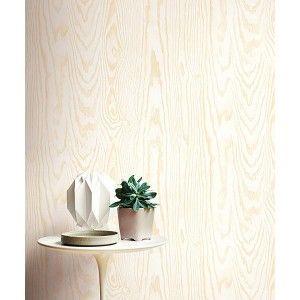טפטים מעוצבים , קיר לוח עץ טבעי - קרם