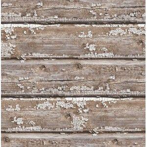 קיר קורות עץ מיושן - טבעי