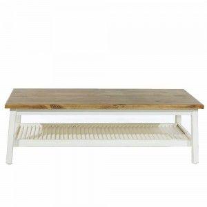 שולחן סלון עם מדף תריס