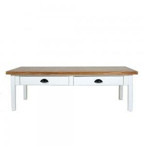 שולחן סלון גלי 2 מגירות