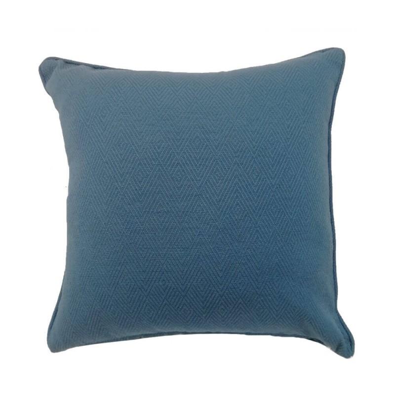 כרית זיגזג כחולה