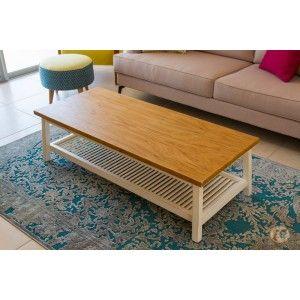 שולחן סלון לואיז עם מדף תריס