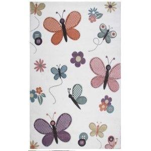 שטיח ילדים פרחים ופרפרים