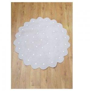 שטיח לחדר ילדים פרח פונפון לבן