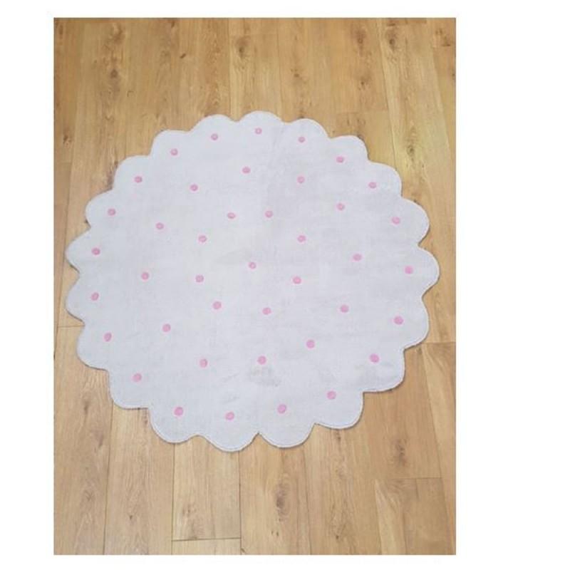 שטיח ילדים פרח פונפון ורוד