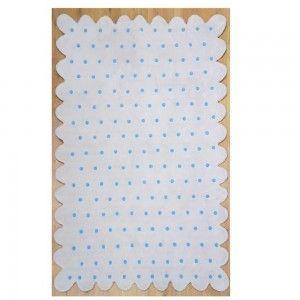 שטיח ילדים פונפון כחול