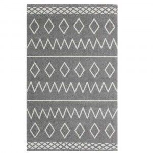 שטיח ילדים אפור איור גאומטרי