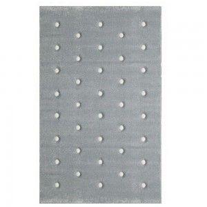 שטיח ילדים אפור פונפונים