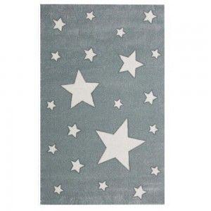 שטיח ילדים אפור כוכבים