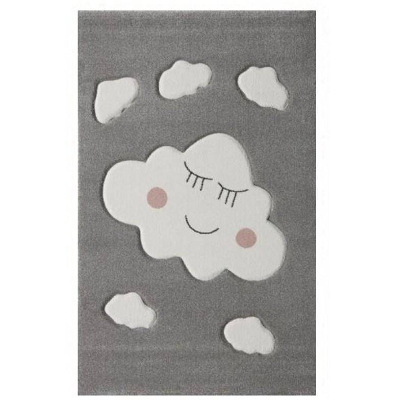 שטיח ילדים אפור עננים