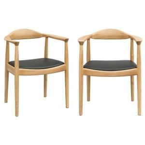כסא עץ טבעי מרופד