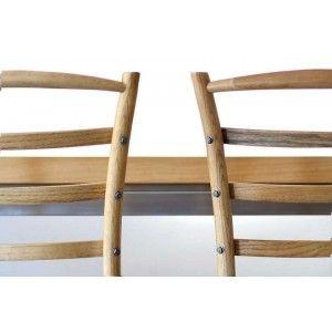 ריהוט לבית, כסא עץ כפרי משענת פסים