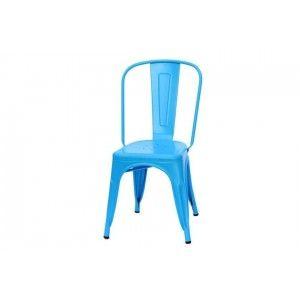 כסא כחול ממתכת