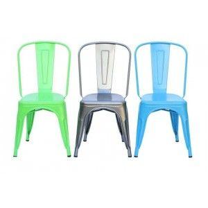 כסאות, כסא כחול ממתכת