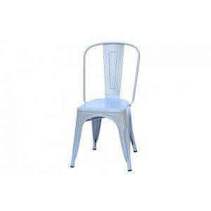כסא אפור ממתכת
