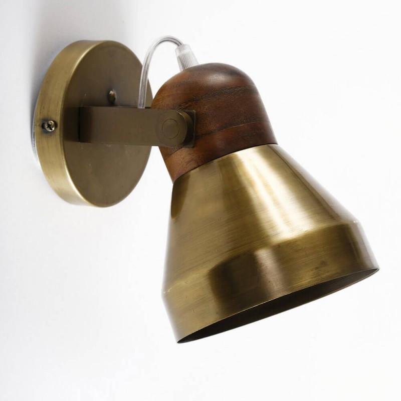 מנורה צמודת קיר ז'ול נחושת