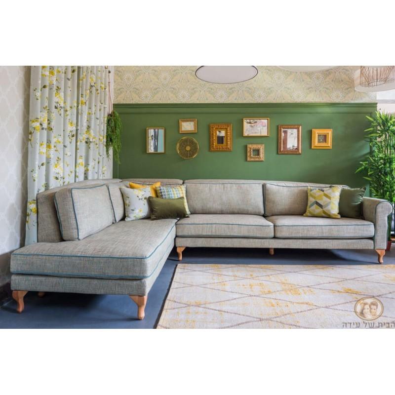 ספה פינתית מעוצבת לסלון עידה פינתית