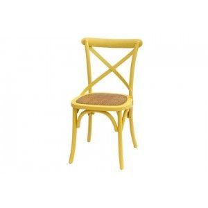 כסא משענת איקס צהוב
