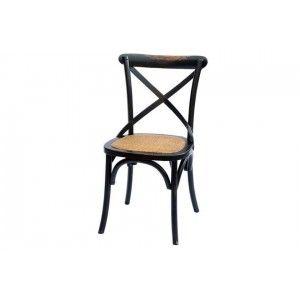 כסא משענת איקס שחור