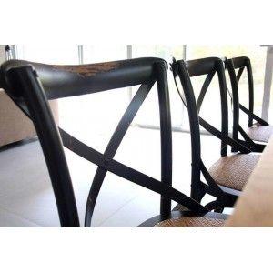 ריהוט לבית, כסא משענת איקס שחור
