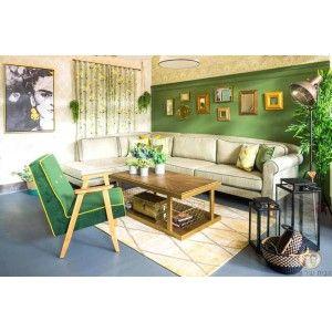 שולחן מתכת ועץ