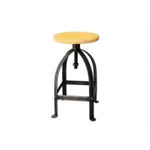 ריהוט לבית, כסא בר ברזל צהוב