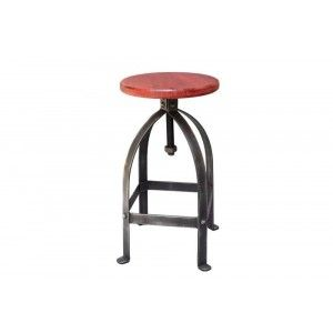 ריהוט לבית, כסא בר ברזל אדום