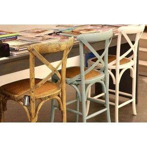 ריהוט לבית, כסא בר תכלת עם משענת