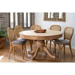 שולחן אוכל עץ עגול נפתח