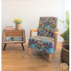 כורסא מעוצבת אלזה כחולה