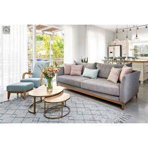ספה מעוצבת עלמה אפורה