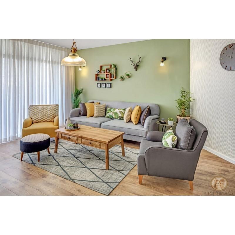 ספות לסלון , ספה מעוצבת נטע אפור