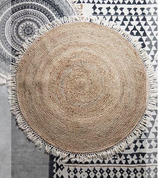 שטיחים לבית, שטיח קש פריז עם פרנזים