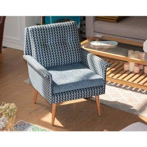 כורסאות מעוצבות , כורסה מעוצבת דייזי כחול אפור