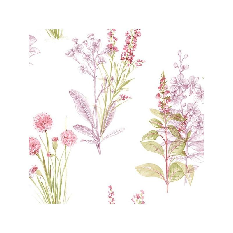 טפט פרחים טיול בשדה (ורוד)