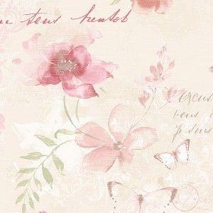 טפטים מעוצבים , טפט פרחים ופרפרים 1