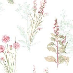 טפט פרחים טיול בשדה (תכלת)