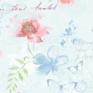 טפט פרחים ופרפרים 2