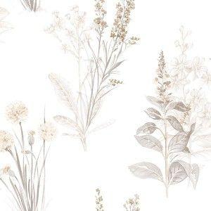 טפט פרחים טיול בשדה (צהבהב)