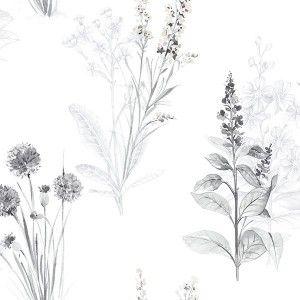 טפט פרחים טיול בשדה (מונוכרומטי)