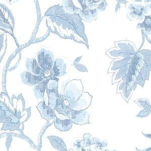 טפט פרחים הדפס תכלת