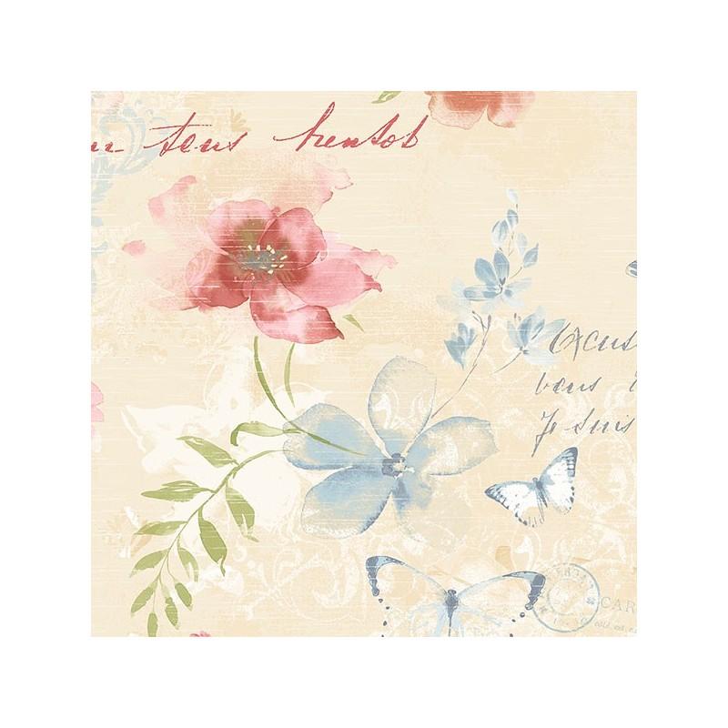 טפט פרחים ופרפרים 3
