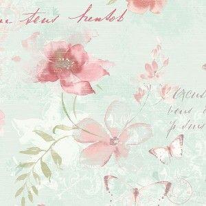 טפט פרחים ופרפרים 4