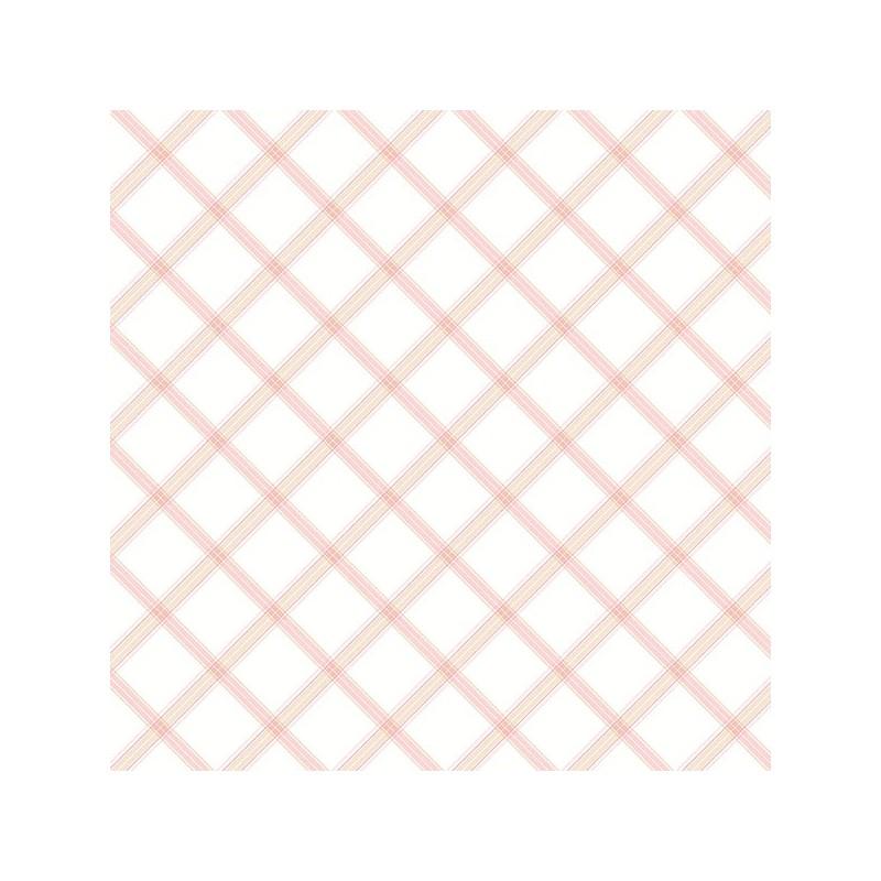 טפט פסים בצורת מעויינים - ורוד ובז'