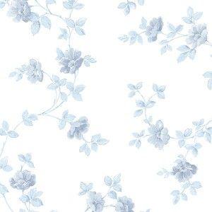 טפט פרחים משתרגים כחול תכלת