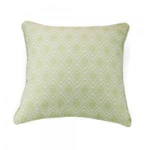 כרית נוי מבוך מעוין ירוק בהיר