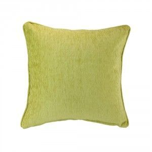 כרית נוי קטיפה ירוקה