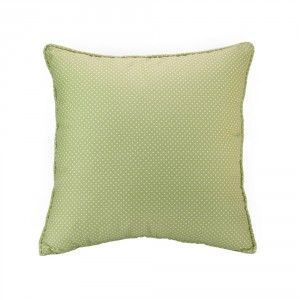 כרית נוי ירוקה נקודות