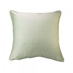 כרית נוי ירוקה משבצות